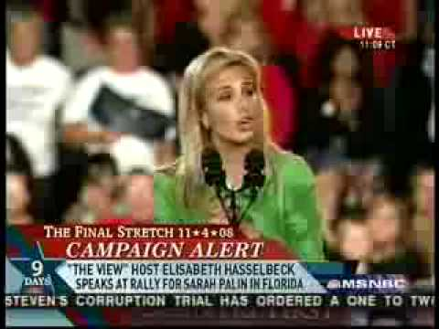 Elizabeth Hasselbeck introduces Sarah Palin