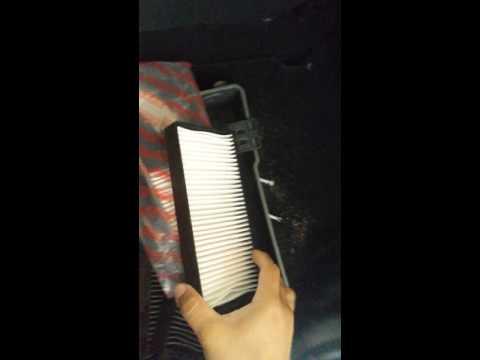 Troca do filtro de ar condicionado do jac j3