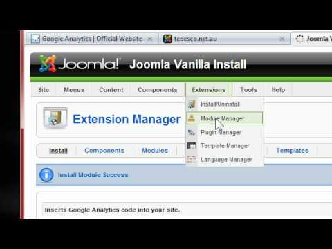 J!Analytics Installation for Joomla! 1.5