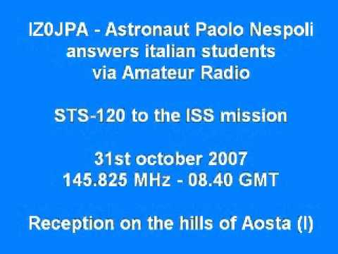 IZ0JPA - Astronaut Paolo Nespoli in contact with italian school