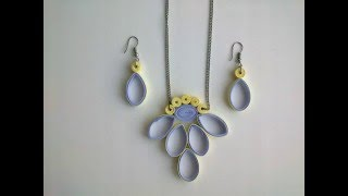 Quilling  Earring designs How to make Quilling Earrings amp Quilling necklace