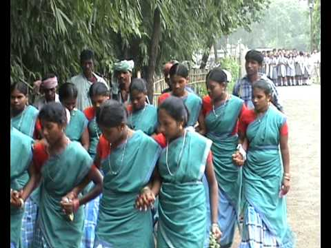 Santali Tribal Dance Welcome, Barharwa, Jharkhand, India video