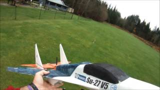 RCP Su27 V5 with Turnigy 2200 kv motor and 3 bladed props