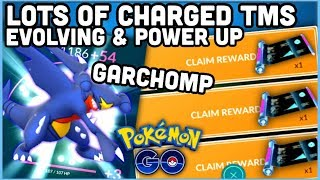 EASY CHARGED TMS NOW IN POKEMON GO | GARCHOMP EVOLUTION & POWER UP