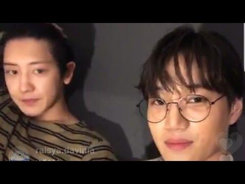 EXO KAI AND EXO CHANYEOL DOING INSTAGRAM LIVE 180703