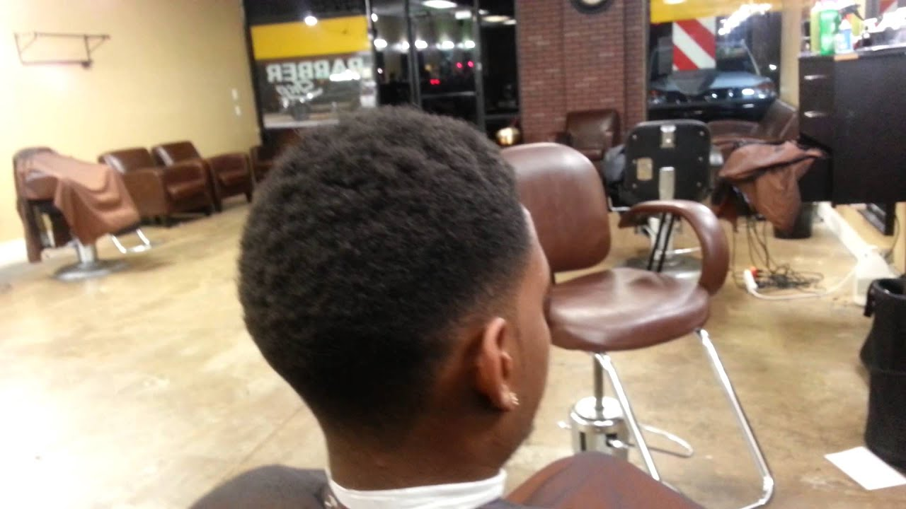 Temp Fade with Afro