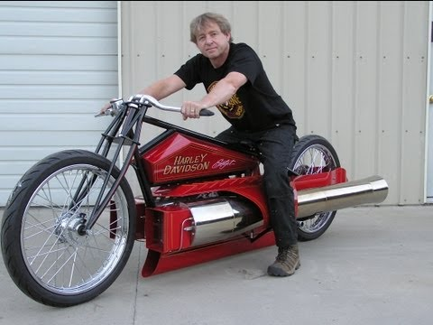 Twin Jet Engine Harley pulsejet jet engine bike one of a kind Maddoxjets.com