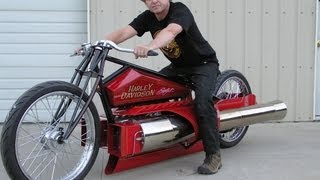 Maddoxjets.com:Twin Jet Engine Harley Dragon pulsejet jet engine bike.