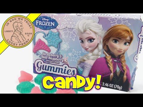 Disney Frozen Snowflake & Tiara Fruit Flavored Gummy Candy
