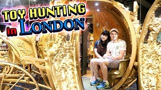 TOY HUNTING in London with Ryan at Disney Store & Shrek's Adventure!