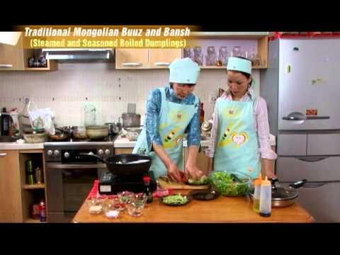 Traditional Mongolian Buuz and Bansh (Steamed and Seasoned Boiled Dumplings) (In Mongolian)-2