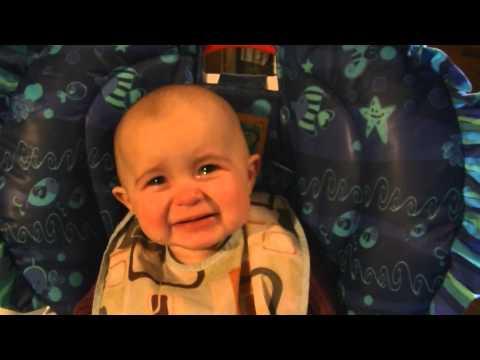 Emotional baby! Too cute!