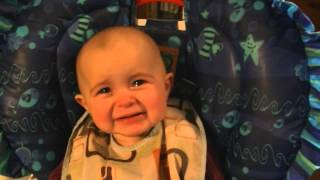 Emotional baby! Too cute! She's was only ten months old when this video was taken, her reaction is p