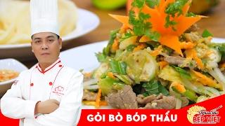 Cách chế biến món Gỏi Bò Bóp Thấu cực ngon - Chef Tuvit Thái | How to make Vietnnamese Beef Salad