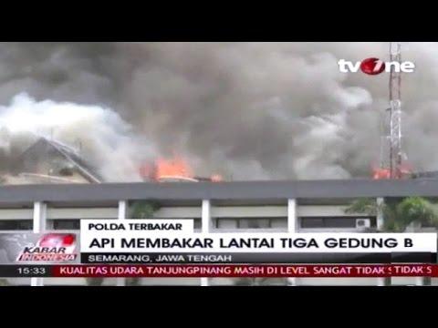 Video Detik detik Terbakarnya Mapolda Jateng ~ Berita Terkini 30 September 2015