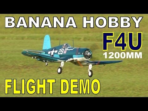 LX Models F4U 1200MM Folding Wing CORSAIR Flight Demo in HD By: RCINFORMER