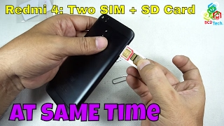 Let's See Whether Redmi 4 Supports 200GB SD Card & 2 SIMs with SD Card Simultaneously