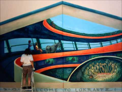 Painting the Mermaid Rising Mural at Lokrantz Special Education School in Reseda, California