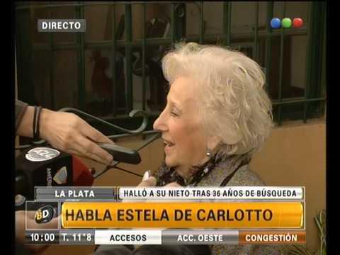 Emotiva entrevista a Estela De Carlotto  - Telefe Noticias