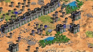 Age of Empires 2 HD - 1vs7 HARDEST AI (cheating)