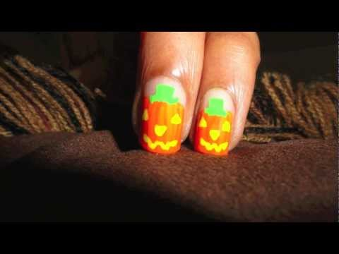Halloween Pumpkin Nail Art HD