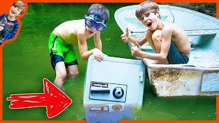 ABANDONED SAFE FOUND IN OUR NEIGHBOR'S POND! (LOOKS JUST LIKE CARTER SHARER SAFE) - The Adventurers