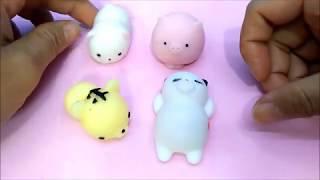 Đồ chơi trẻ em Squishy gấu, heo, mèo, hổ đáng yêu - Squishy mochi toys for kids (Thỏ Trắng)