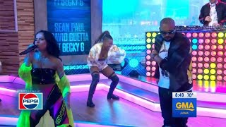 Sean Paul David Guetta Becky G Mad Love Live On Good Morning America
