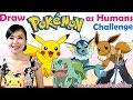 Challenge Art Video - Draw POKEMON as Cute Girls + Hot Guys