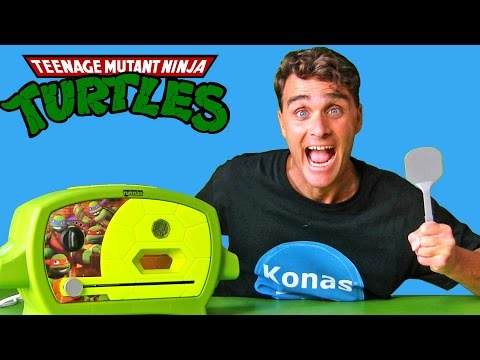 Teenage Mutant Ninja Turtles Pizza Oven !    Toy Review    Konas2002