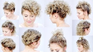 10 EASY HAIRSTYLES FOR SHORT HAIR with Curling Iron   Milabu
