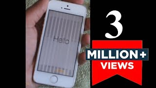 How to Fix Vertical Lines on iPhone 5S | Unresponsive Screen 5S | White & Black Lines