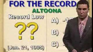 Weather Trivia - Part 1 - Weekend of January 19, 2008