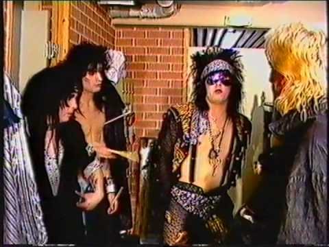 Blackout TV Show with News & Interview Moetley Crew Tour 1986