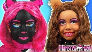 Kids Makeup Monster High Compilation Alisa Play with Dolls & makes Cosplay with Colors Paints