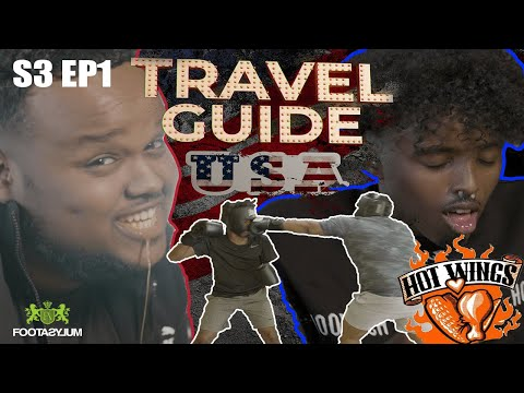 ROAD TO KSI: CHUNKZ AND AJ HOT WINGS CHALLENGE AND BOXING | TRAVEL GUIDE USA EP 1