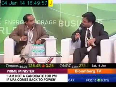 Energy Storage India 2013 Episode on Bloomberg TV India