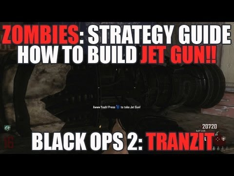 How to Build the Jet Gun Wunderweapon Tutorial!  Black Ops 2: Tranzit Solo (HD)