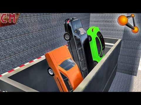 BeamNG Drive Smashing crushing Cars with CAR Press (Death Machines) #3