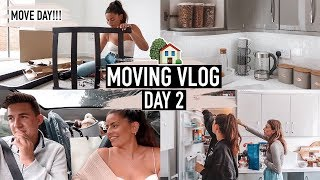 TODAY IS MOVE DAY! MOVING INTO OUR BRAND NEW HOUSE + KITCHEN UPDATE · MOVING VLOG Day 2 | Emily