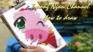 How to draw Boorin / ドローイングBoorin/ Vẽ và tô màu Boorin và Quả Lâm