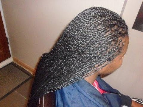 Senegalese Twists Tutorial - Braid at root method / Twist   at root method - Setting the Twist
