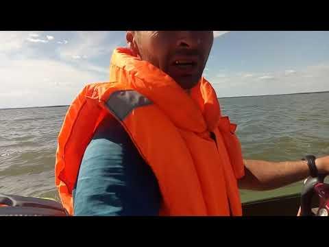 Пластиковая лодка кайман 300 ходовые испытания с самодельным управлением обское водохранилище
