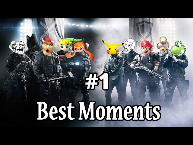 BestMoments RainbowSixSiege # 1 Team débile