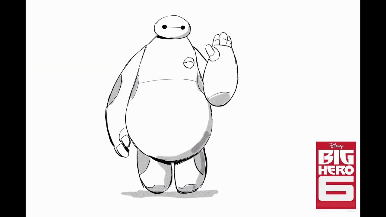 Disney Heroes Drawings How to Draw Baymax From Big