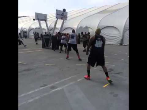 Chris Brown Playing Basketball At Nike's 3ON3 Tournament