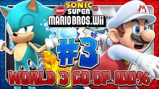 Sonic & Mario in New Super Mario Bros Wii - Co Op 100% - Part 3