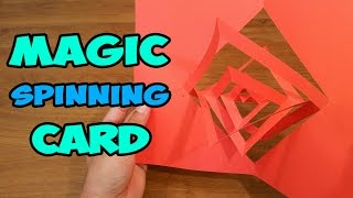 How To Make a Kirigami Magic Spinning Card