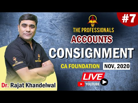 CA Foundation Accounts #7 | Consignment CA Foundation Revision by Dr. Rajat Khandelwal Sir