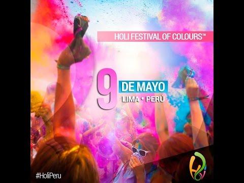 HOLI FESTIVAL OF COLOURS LIMA PERU - 9 DE MAYO